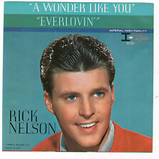 PICTURE SLEEVE ONLY-RICK NELSON-IMPERIAL 5770-A WONDER LIKE YOU/EVERLOVIN'