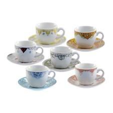 Tazze caffè Unitable collezione Rose e Tulipani Roma 6 pezzi porcellana