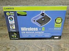 New! LINKSYS Network Adapter Wireless-G 2.4GHz 802.11g USB WUSB54G