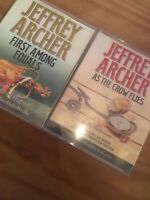 2x JEFFREY ARCHER AUDIO BOOK CASSETTE TAPES-AS THE CROW FLIES, FIRST AMONG EQUAL