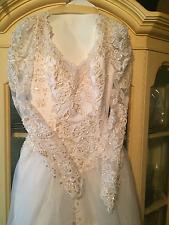 OLEG CASSINI LONG SLEEVE WEDDING DRESS
