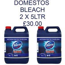 DOMESTOS Bleach 2 x 5ltr épais Bleach Original Germe Killer