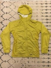 GOLITE hooded rain jacket womens size medium yellow green waterproof EUC! D8