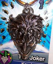 Licensed DC COMICS BATMAN THE JOKER Silver Pewter KEYRING KEY CHAIN Keychain NEW