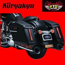 Kuryakyn Gloss Black Saddlebag Extensions 14'-17 Touring 7293