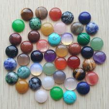 12mm Natural Gemstone Cabochons | Mixed Stone Types | 50pcs