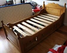 LIT ENFANT GICOGNE INTERIOR'S 90 x 190 avec tiroirs et  matelas - EPICEA NATUREL