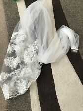 Long Wedding Bridal Veil With Comb Nwot