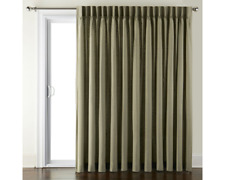 JCPenney Home Supreme Pinch-Pleat Patio Door Curtain Green Sage 100x84
