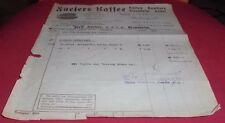 inflation gold mark rechnung ferd.füsers kaffee gmbh mannheim  1925 papier deko
