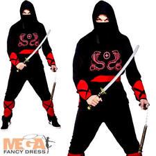 Ninja Warrior Martial Arts Mens Fancy Dress Adult's Japanese Uniform Costume