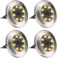 GIGALUMI Solar Ground Lights,Solar Disk Lights