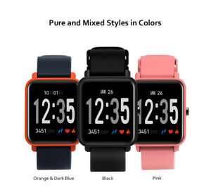 Bluetooth 4.0 Smart Watch Heart Rate Calories Fitness Tracker For iOS & Android