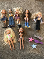 Vintage BRATZ DOLL Lot of 7 With Some Clothes And Shoes Wild Wild West Two Dolls