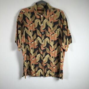 Tori Richard mens button up shirt size L hawaiian multicolour floral oversized