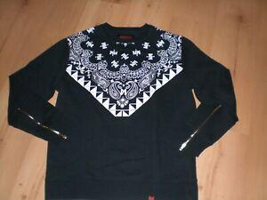 Sweatshirt Maskulin Gr. XL schwarz/weiß super