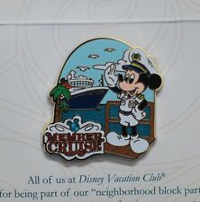 Captain Mickey Mouse Pin DVC Disney Vacation Club Member Cruise 2014 on Card