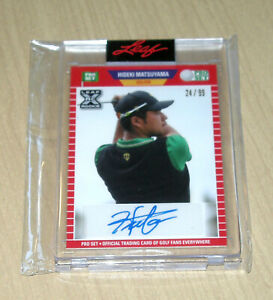 2021 Leaf Pro Set Hideki Matsuyama rookie autograph auto GOLF 24/99