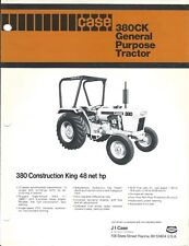 Equipment Data Sheet Case 380ck Construction King Tractor C1979 Brochure E4119