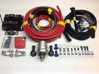 2 MTR HEAVY DUTY SPLIT CHARGE SYSTEM 200AMP Heavy Duty Solenoid + 170A Cables