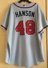 Tommy Hansen Signed Baseball Jersey Majestic Authentic Atlanta Braves Autograph