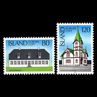 Iceland 1978 - Europa stamps Architecture Church - Sc 506/7 MNH