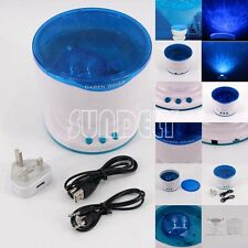 LED Light Projector Calming Autism Sensory Toy Relax Blue Night Music Projection