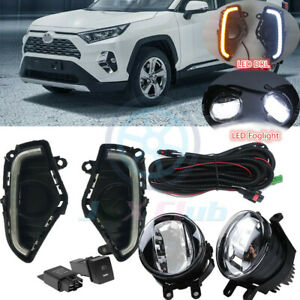 DRL LED Daytime Running Lamp OEM LED Fog Light Wiring x For Toyota RAV4 19-2021