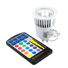 Ampoule Luminaire Led GU10 5W 220V 1x5W RGB Multicolore avec télécommande