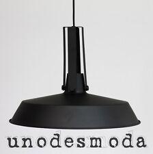 Pendant Ceiling LIGHT INDUSTRIAL MATT BLACK METAL Factory Hanging Lamp Cafe