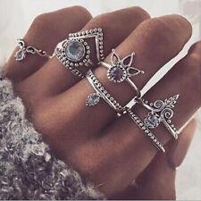 8pcs/Set Mujer Boho Anillo De Dedo Nudillo Midi Flecha Anillos joyería Ring