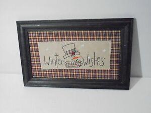 Primitive Country Snowman Christmas Sign Home Decor