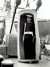 1962 Vintage Photo armed Italian Sailor guards Amerigo Vespucci Tall Ships Race