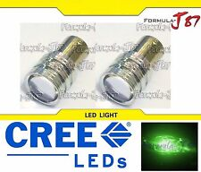 LED Light 5W 1156 Green Two Bulbs Rear Turn Signal Replacement Show Use Lamp JDM