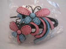 Pink Blue Suede Butterfly Hair Clip~Hair Jewelry~NEW~LBDLG