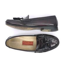COLE HAAN Mens size 9.5 D Oxblood Burgundy Leather Pinch Tassel Loafer Shoes