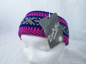 Vintage DeNeve of Italy  Knit Ski Snow Headband Band Multicolor NWT