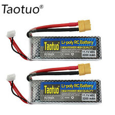 2 X 11.1V2200mAh 40C 3S Lipo Battery Pack XT60 Plug for RC Helicopter Car Boat