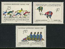 Liechtenstein 877-879, MI 934-936, MNH. Winter Olympics, Calgary, 1987
