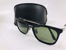 New Calvin Klein CK18719S 001 Black Sunglasses & Green Lenses with Case