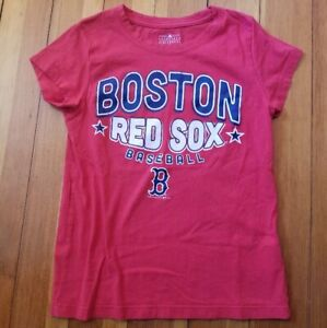 BOSTON RED SOX Red Short Sleeved Top Girls Size 7-8