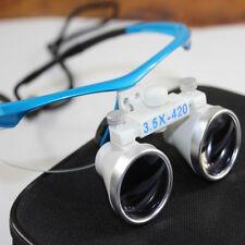 Dental Loupes 3.5x 420mm Surgical Binocular Loupe dental Magnifier Glasses+Case