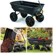 Lawn Garden Dump Cart Yard Tractor Wagon Wheelbarrow Trailer Gorilla Poly Carts