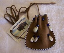 HAND MADE SMALL BEADED NECK POUCH RENDEZVOUS BLACK POWDER MOUNTAIN MAN 29