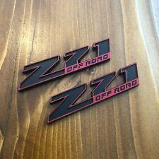 New - 2x Z71™ OFF ROAD Black & Red Emblem Badge Chevy GMC Silverado Sierra HD