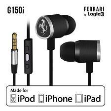 Ferrari G150i In-Ear Headset Kopfhörer Logic3 mit Fernbedienung UVP 129€ schwarz