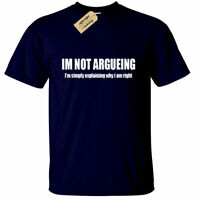 I'm not arguing T Shirt Funny Mens Joke novelty gift argument always right
