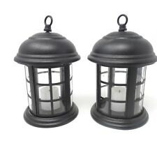 Two Battery Operated Hanging Lantern  Candle Light Flickering Light
