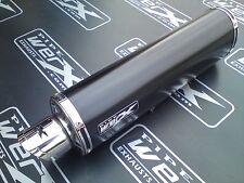 Aprilia SL 1000 Falco Powder Black Oval Exhaust Cans / Silencers, Street Legal