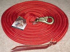 THOMEY NATURAL HORSE TRAINING LEAD ROPE, 14FT.,~ GREAT FOR GROUNDWORK ~ RED